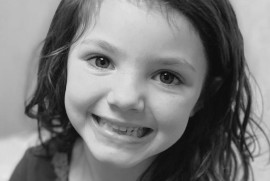 Black and White Picture of little girl